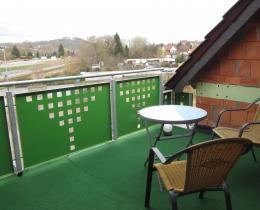 Ausblick vom Balkon Wohnung 2