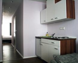 Küche in der Ferienwohnung im Erdgeschoss
