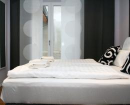 Schlafzimmer in der Ferienwohnung im Erdgeschoss