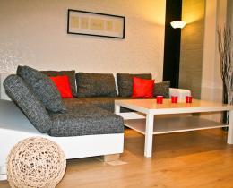 Wohnzimmer in der Ferienwohnung im Obergeschoss
